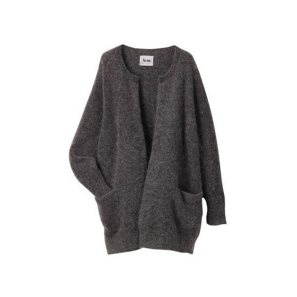 Acne RAYA MOHAIR Sumally ❤ liked on Polyvore featuring tops, cardigans, outerwear, jackets, sweaters and mohair cardigan