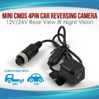 Mini CMOS 4PIN Car Reversing Camera Rear View IR Night Vision 12V/24V