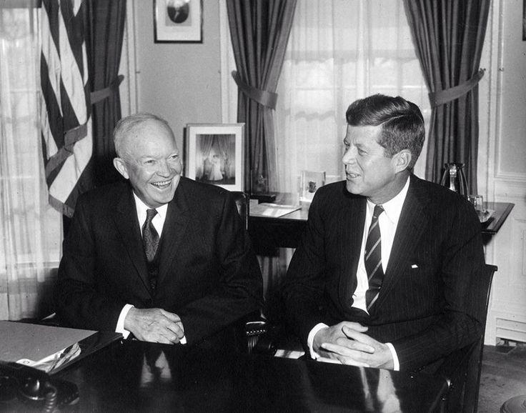 1960. 6 Décembre. Eisenhower et Jfk