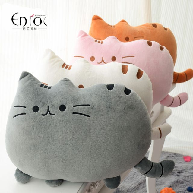 HOT Sale 5 Colors Stuffed Plush Fat Cat  Cushion Cushions Home Dear Cat Shape Pillow Gift Chair Cushion  Free Shipping R-027