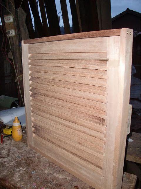 Las 25 mejores ideas sobre persianas de madera en for Como fabricar un bar de madera