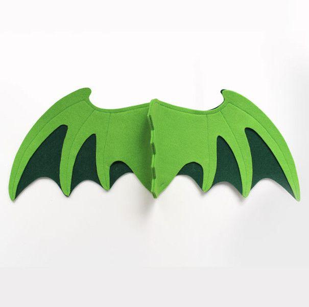 Kostüme & Verkleidung - Drachenflügel für Kinder, GRÜN - ein Designerstück von Designer-Brause bei DaWanda