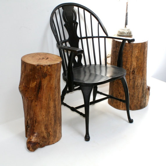 Tree stump tables  For the Home  Pinterest