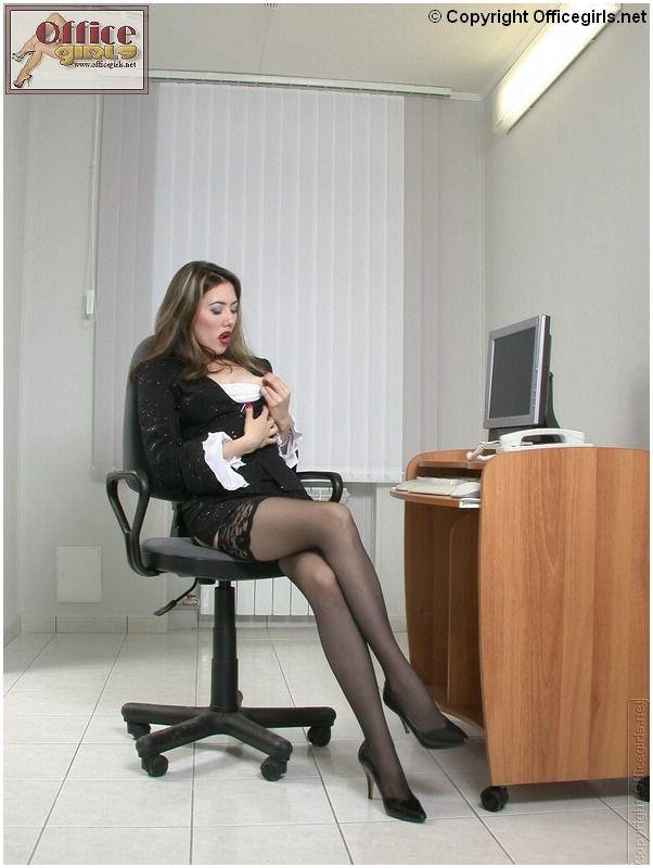 Crossed legs crossed legs at the office pinterest legs - Office girls in stockings ...