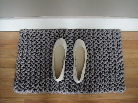 Hand-Knit Rope Rug by Slip Stitch Co. contemporary doormats