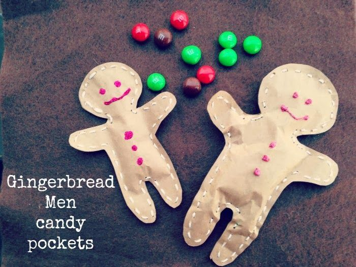 Pin it & Spin it: Gingerbread Men Candy Packets
