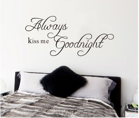 Quote Always Kiss Me Goodnight Word Room Decor DIY Decals Removanle Wall Sticker € 1,64
