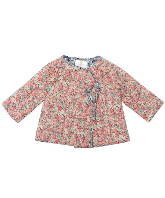 Orange Chive Print Quilted Jacket by Liberty of London - claradeparis.com ♥