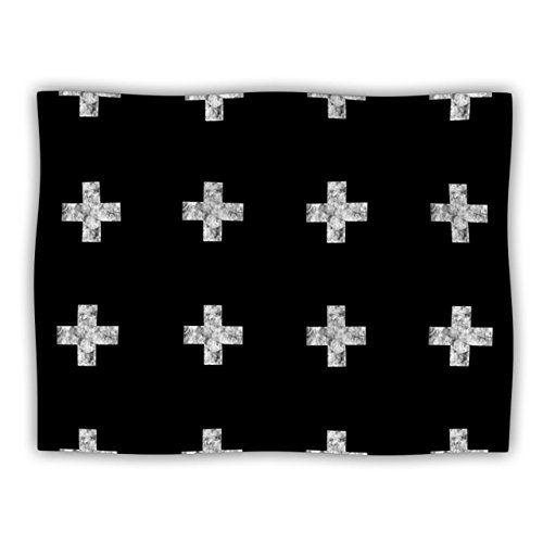 "Kess InHouse Skye Zambrana ""Swiss Cross Black"" Pet Blanket, 30 by 40-Inch, Simple Dark Kess InHouse http://www.amazon.com/dp/B00LFATCO4/ref=cm_sw_r_pi_dp_vD7.ub15NAJZ7"