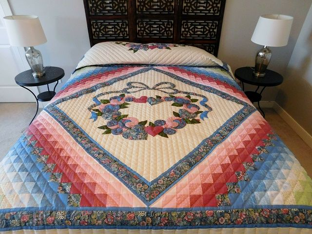 Country Love Quilt -- wonderful cleverly made Amish Quilts from Lancaster (hs7522)