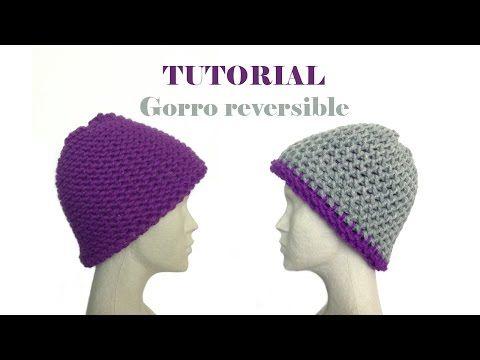Cómo tejer con telar un gorro reversible (Tutorial DIY) - YouTube
