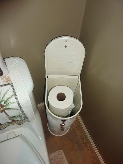 Recycled Mailbox Toilet Paper Holder Decorating Tips In