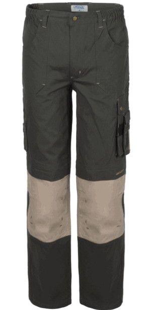 Pantalone Da Lavoro Con Porta Ginocchiere A 2 Colori Verde Beige