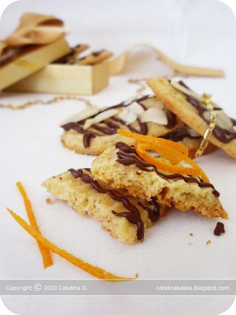 Catalina pece: Pomerančové sušenky s mandlemi a čokoládou