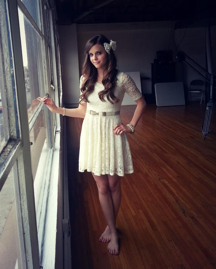 Tiffany Alvord White Lace Dress.
