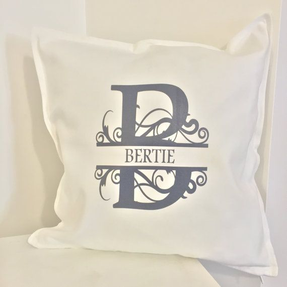 Monogram Personalised Custom Cushion/Pillow  free by weheartcards