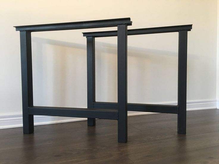 H-Frame Table Legs - metal table legs, table legs, metal legs, heavy duty table legs, solid table legs, kitchen table legs, dining table legs, diy table legs