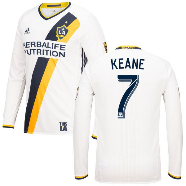 LA Galaxy 16/17 Home Men Long Sleeve Shirt KEANE #7