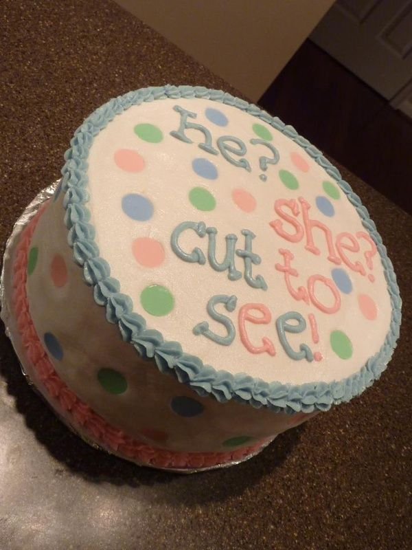 great ideaShower Ideas, Baby Gender, Cute Ideas, Baby Things, Future Baby, Friends July, Gender Reveal Cakes, Baby Shower, Baby Stuff