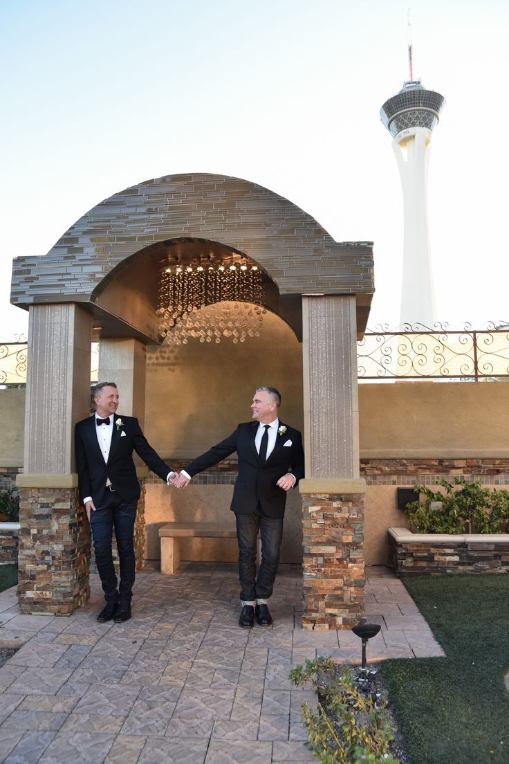 simple and elegant gay wedding in las vegas chapel of the flowers offers all
