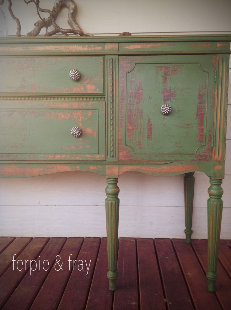 """Ferpie and Fray in """"Green"""" by The Real Milk Paint Company"""