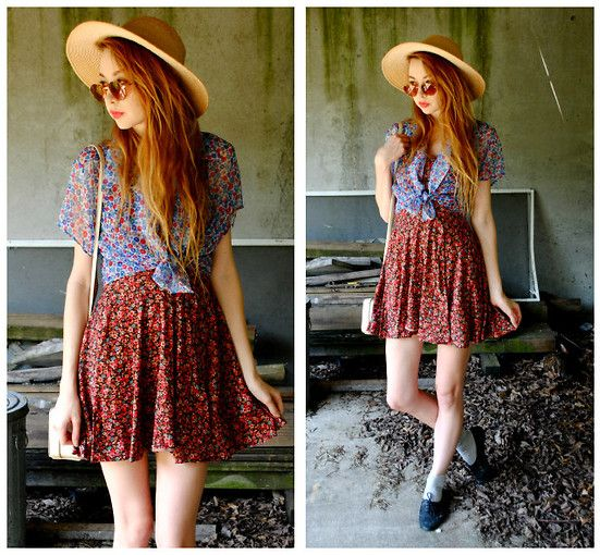 I love mixing different florals: Style Inspiration, Floral Floral, Floral Dresses