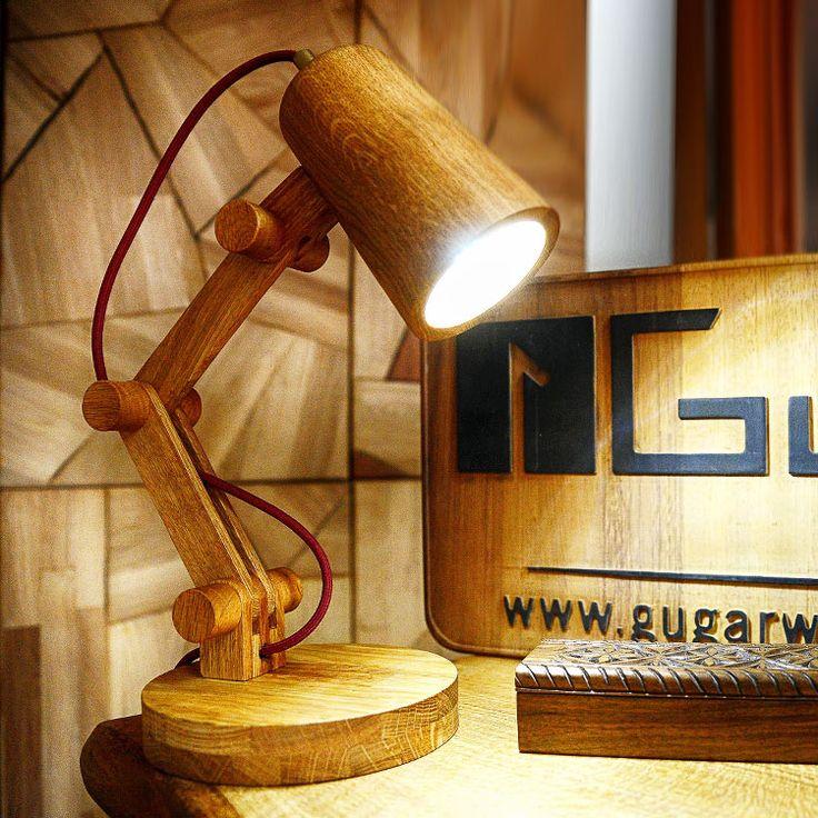 Gugar Acrobat Lamp - Oak