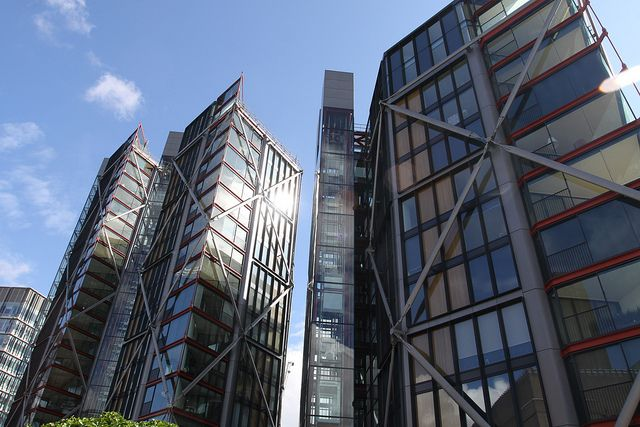 Holland Street Towers, Richard Rogers Partnership, across from the Tate Modern Museum, London.