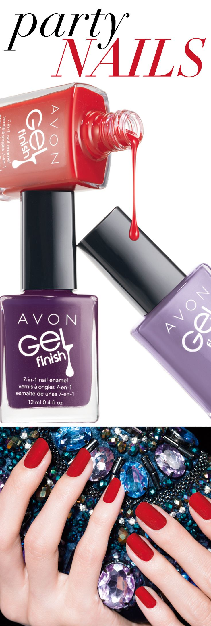 Get a gel-like mani without the UV light! #ManiMonday   Obtenez une manu fini gel sans lumière UV! #LundiManucure