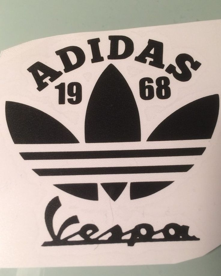 Adidas vespa bespoke design comes in various coloured self adhesive vinyl  8cm