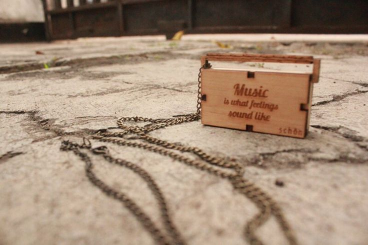 """""""Music is what fellings sound like"""" #wood #lasercutting #quotes #music #radio"""