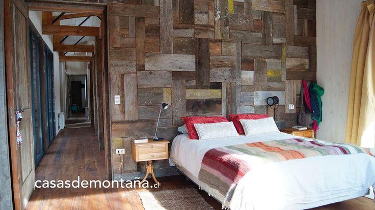 Habitación principal - Casa Hermosilla. Construida en Valle Caracoles, sobre la ruta 181 Malalcahuello - La Araucanía - Chile