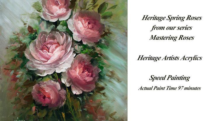 Heritage Spring Roses Speed Painting