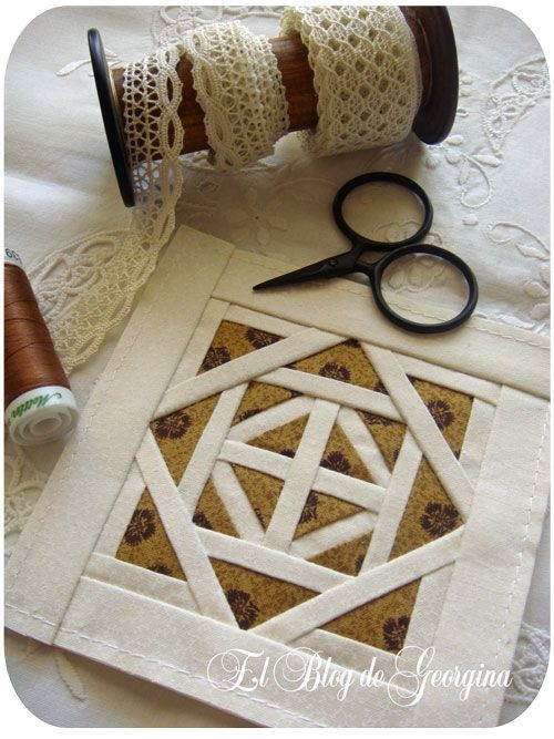 in Spanish, but great photo tutorial on how to make the block.. No pattern exactly, but not difficult to figure out.