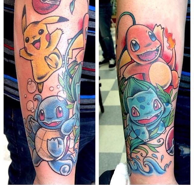 Pokemon sleeve! Original starters + Pikachu. <3 So cute.