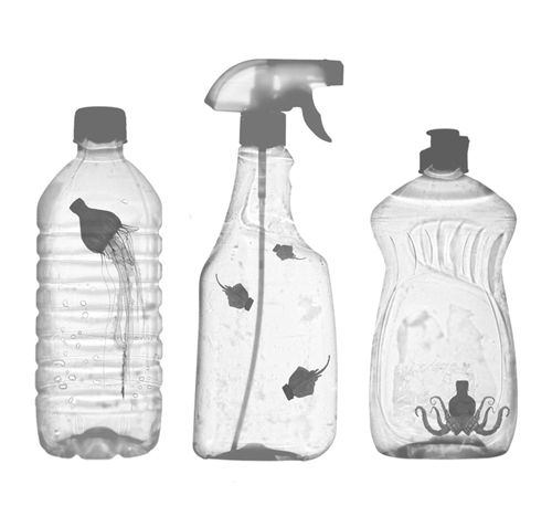 plasyic pollution bottles in the ocean MESSAGE IN A BOTTLE