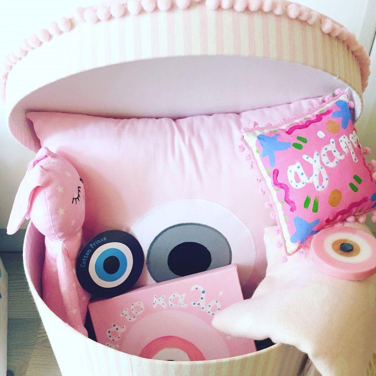 welcome baby girl basket