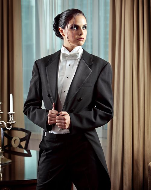 If i ever get married i totally think i could pull this for Lesbian wedding dresses and suits