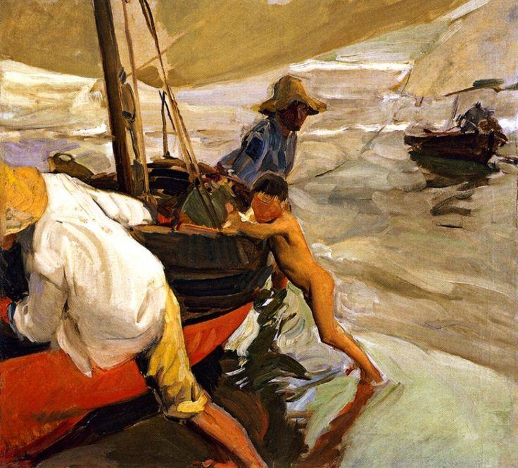 Хоакин Соролья (Соройя). Утреннее солнце, пляж Валенсии