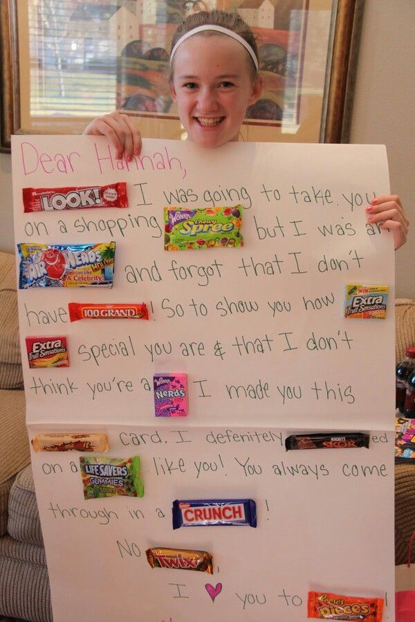 candy sign ideas for friends - Google Search