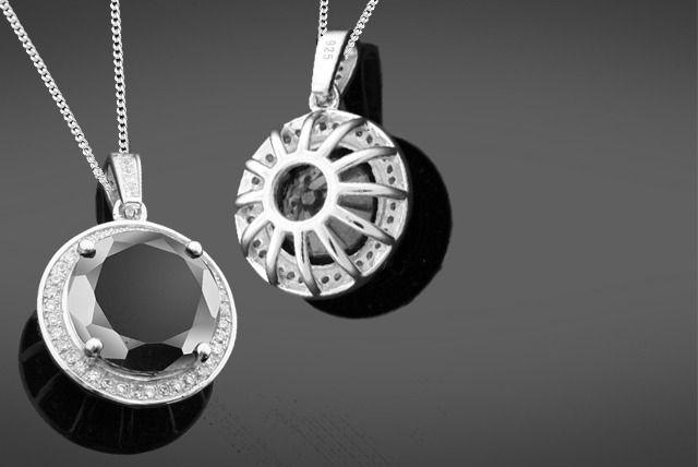 6.5 Carat Black Diamond Necklace