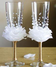 Copas decoradas para boda-DIY-Paso a paso