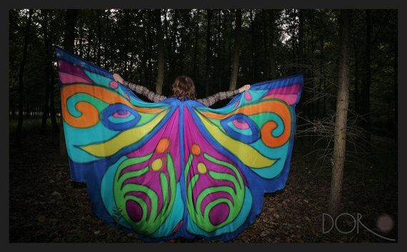Hand painted 100% silk Isis wings made to order. by PracowniaDor