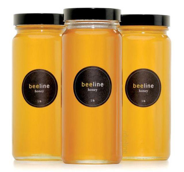 beeline honey  jar and label packaging design