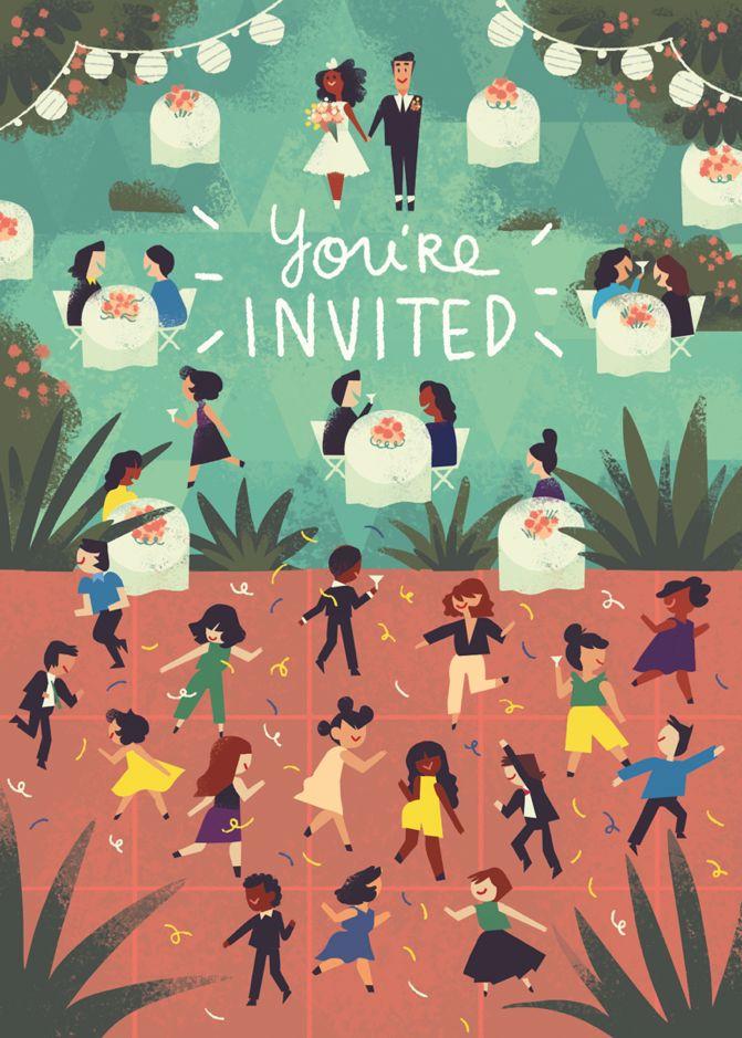 Tiffany Ford Wedding Invite Illustration Pinterest
