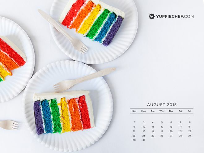 It's time to bake birthday cake: August's free wallpaper