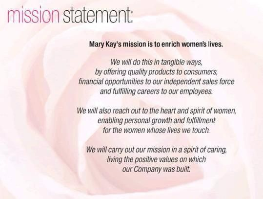 Mary Kay Mission Statement | My Mary Kay Future ...