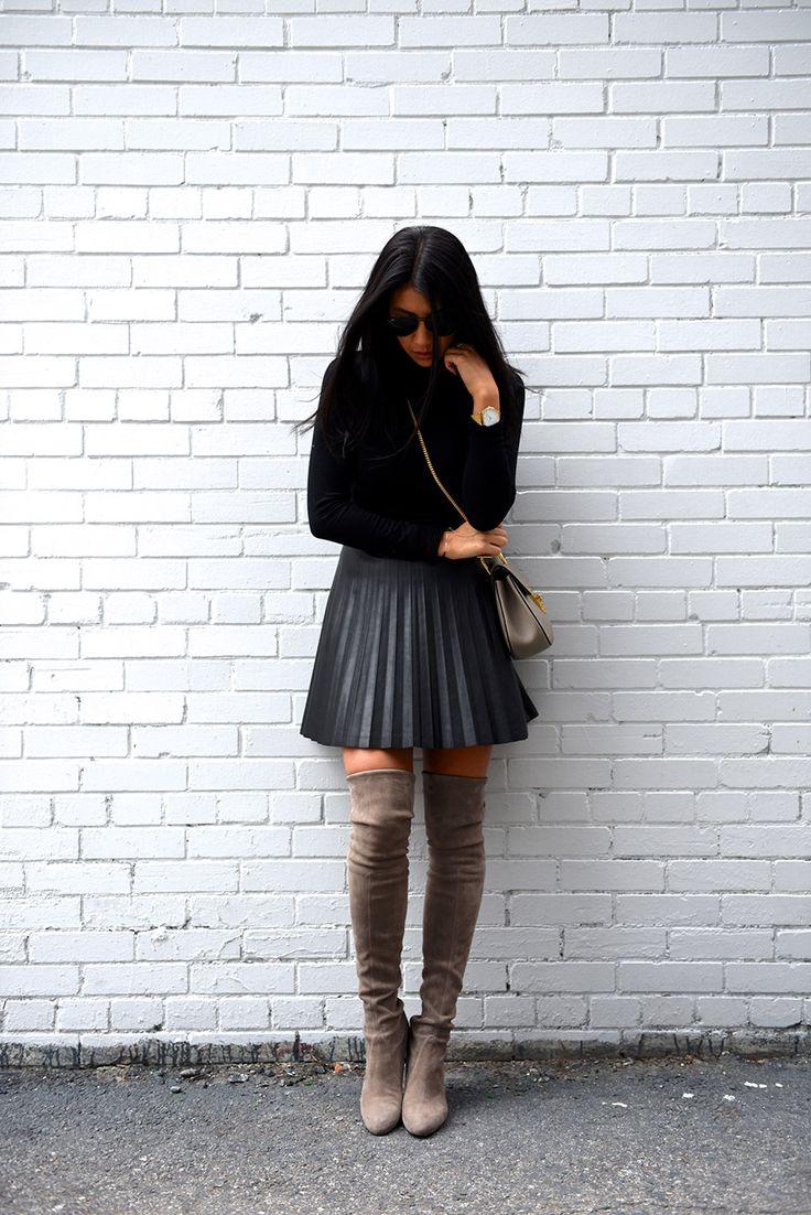 Best 25  Pleated leather skirt ideas on Pinterest   Sienna miller ...