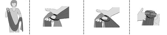 Cómo colocar las anillas en una bandolera portabebés