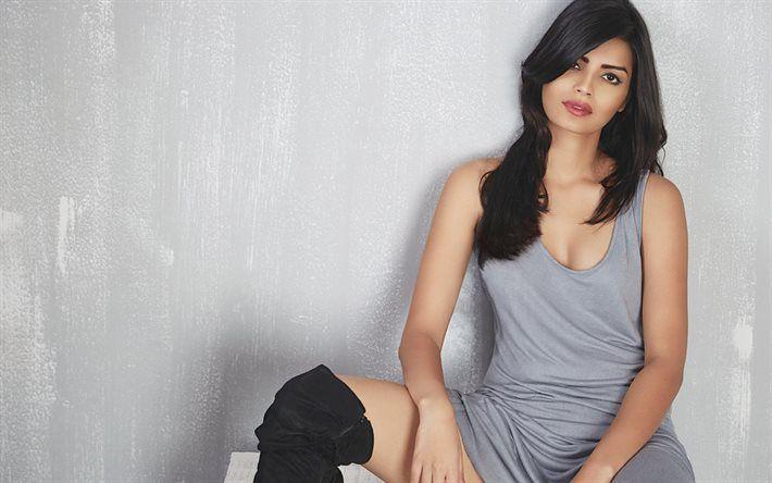 Sonali Raut, bollywood, Indian actress, model, beautiful woman, portrait, brunette